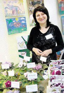 1000 сортів квітів вивела вінницька королева фіалок
