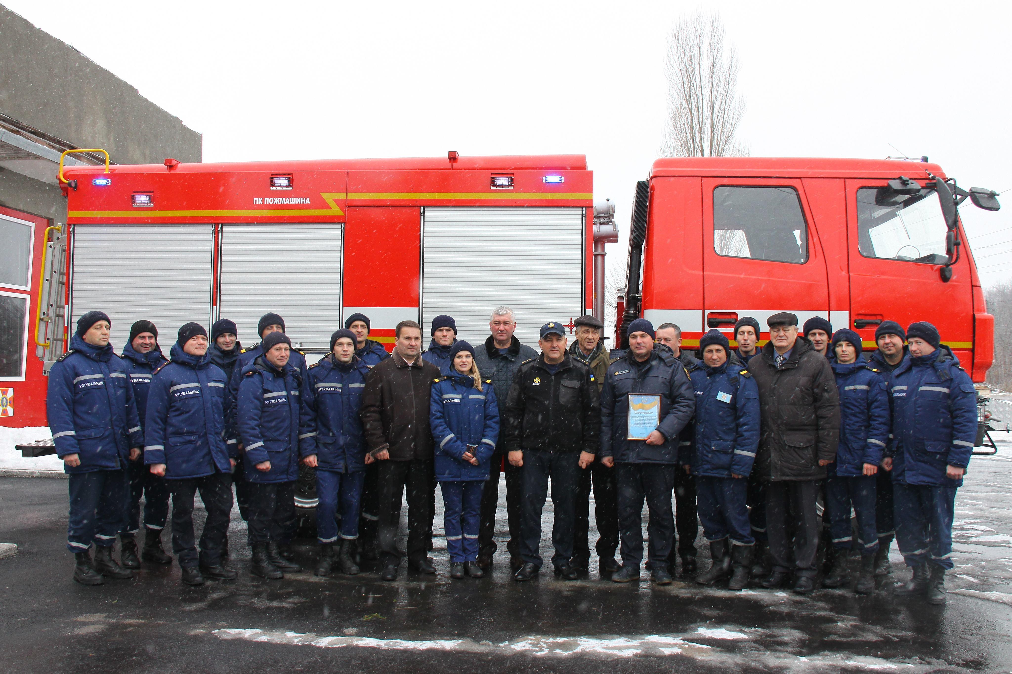 Чотири нові пожежні «МАЗи» отримали вінницькі рятувальники