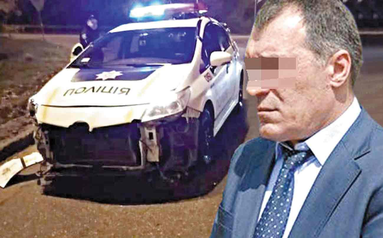 Генерала, який протаранив патрульне авто та побив інспектора, позбавили прав на рік та оштрафували на десять тисяч гривень