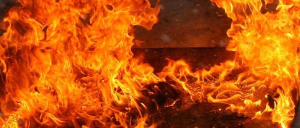 У Вінниці на будмайданчику згорів вагончик робітників