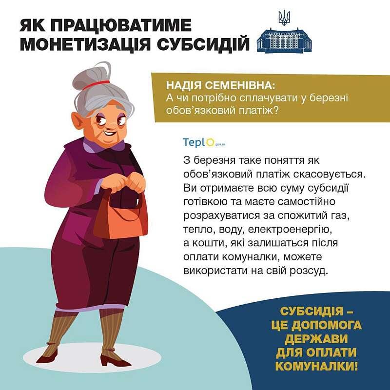 Сьогодні Пенсійний фонд Вінниччини розпочне видачу монетизованих субсидій пенсіонерам