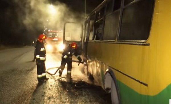 Вчора неподалік Вінниці згорів автобус