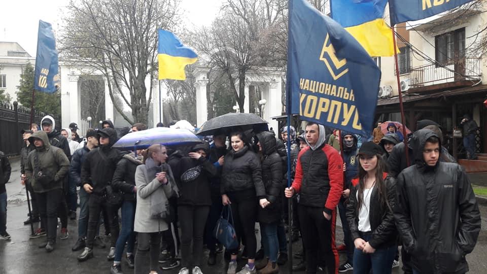 """""""Мокрий марш"""" Нацкорпусу під СБУ! (відео)"""