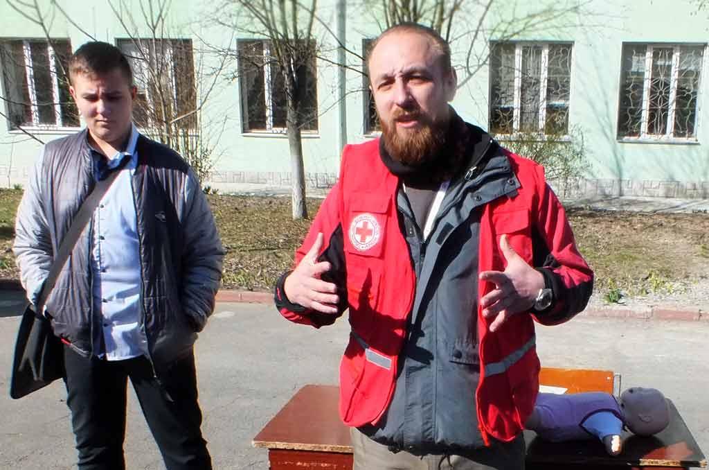 Заняття з безпеки життєдіяльності провели у Вінницькому педколеджі
