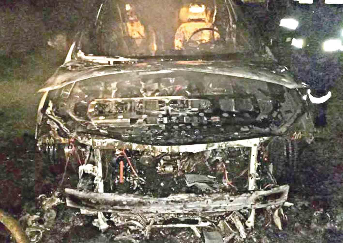 У Могилеві-Подільському спалили іномарку офіцера-прикордонника