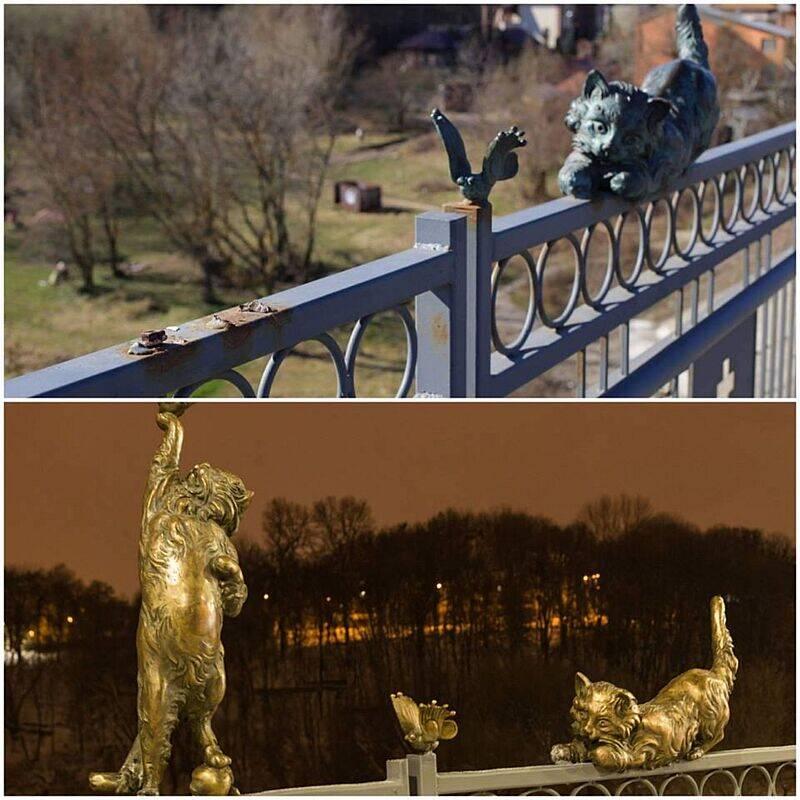 Кота повернули на Київський міст Вінниці. Вандалів досі шукають