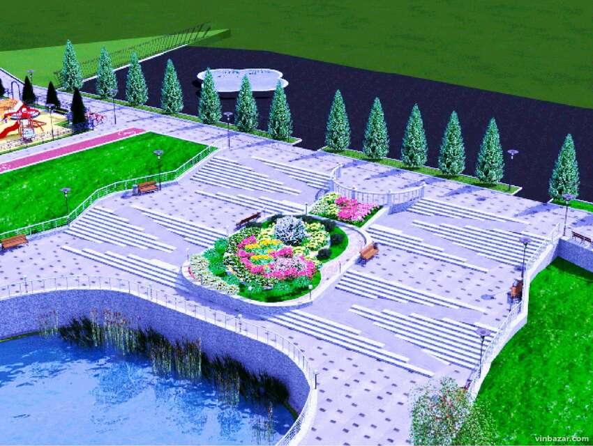 Сквер і озеро у Вінниці,де стріляли у Дворкіса , відремонтують. Проект (відео)