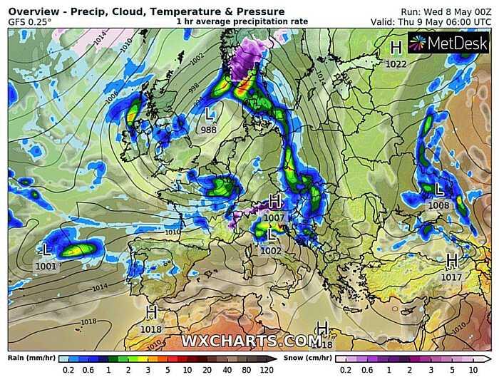Дощі у Вінниці припиняться на День Перемоги? Синоптики нарешті обіцяють сонце і тепло…