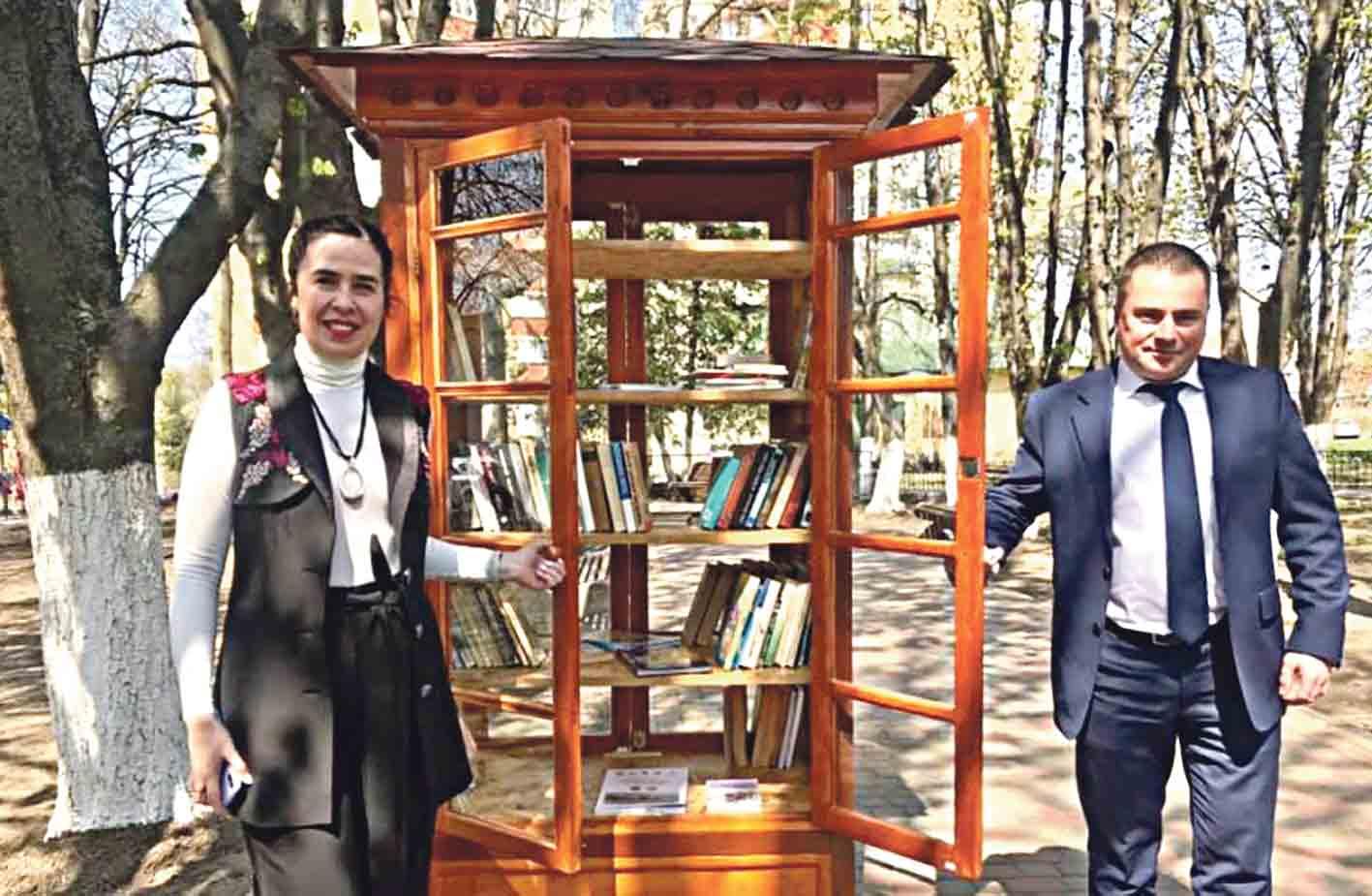 Вулична бібліотека – перша у Вінниці – «оселилася» поблизу олієжиркомбінату