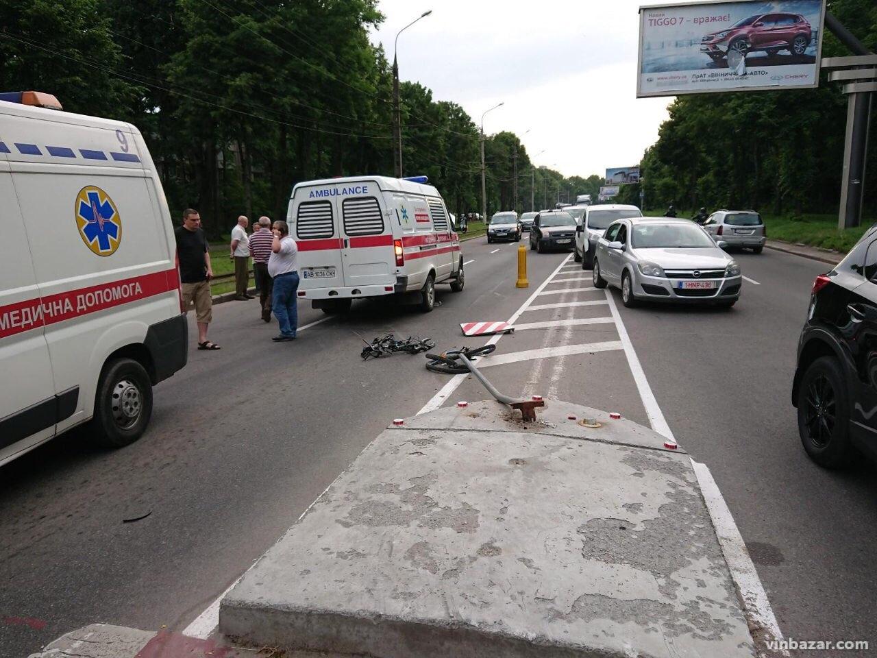 З'явилось відео із Лісопарку, де у Вінниці «швидка» збила 14-річну велосипедистку (відео) (ОБЕРЕЖНО, ШОК-КОНТЕНТ)