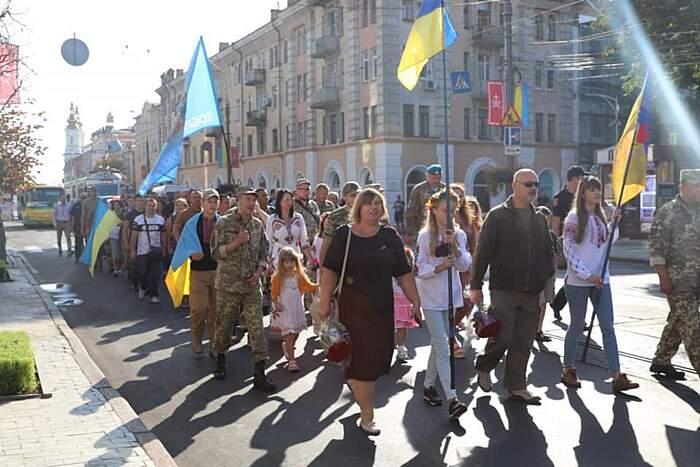 Марш Захисників України у Вінниці 24 серпня (відео)