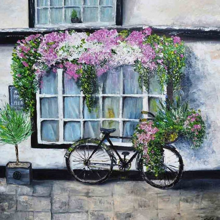 Офісні мрії та квіти в картинах Інни