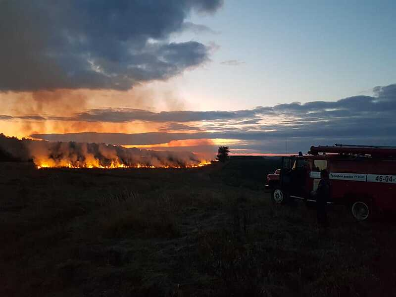 Тричі горіла трава вчора на Вінниччині