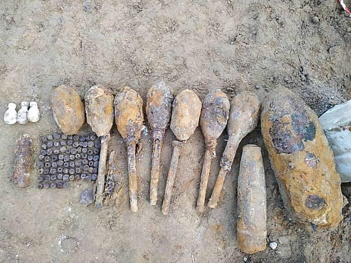88 снарядів, гранат та навіть одну авіабомбу часів Другої світової війни знайшли у Гнівані
