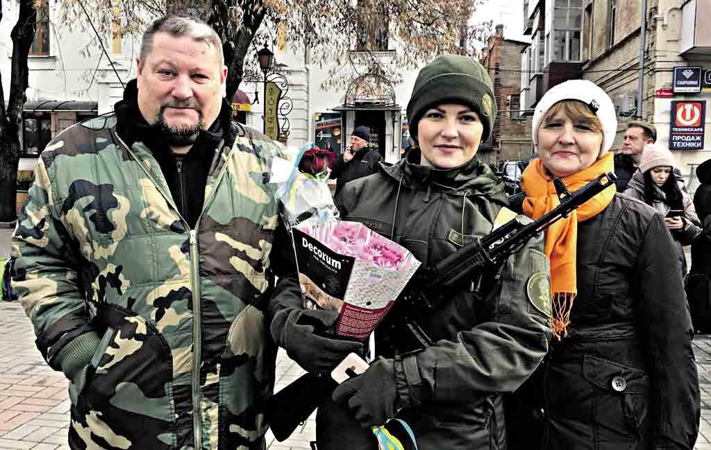 Три освідчення під час присяги нацгвардійців відбулись у Вінниці. Всі наречені відповіли «так»