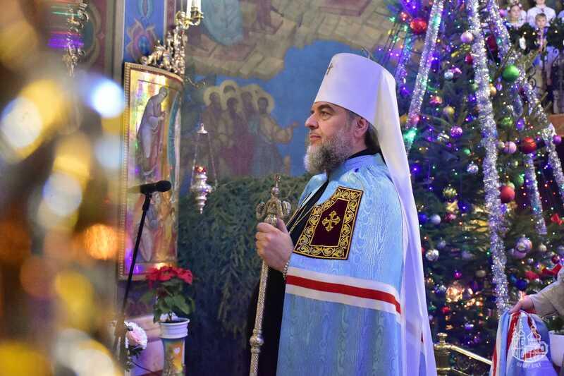 Різдво Христове – вечірнє богослужіння та колядки в Спасо-Преображенському кафедральному соборі Вінниці