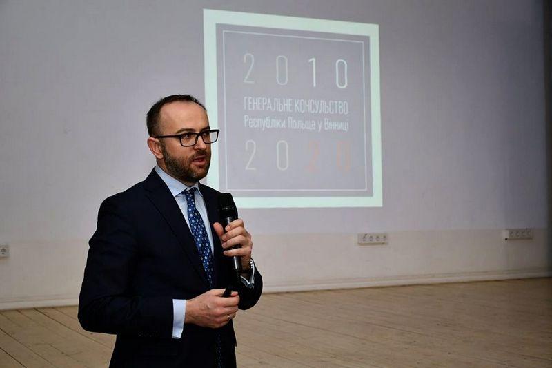 900 000 віз відкрили у Вінниці – Генеральний консул Республіки Польща у Вінниці Даміян Цярцінські