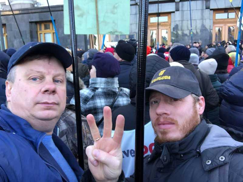 Вінничани пікетують Офіс Президента на захист ФОПів -#saveФОП!!! (відео)