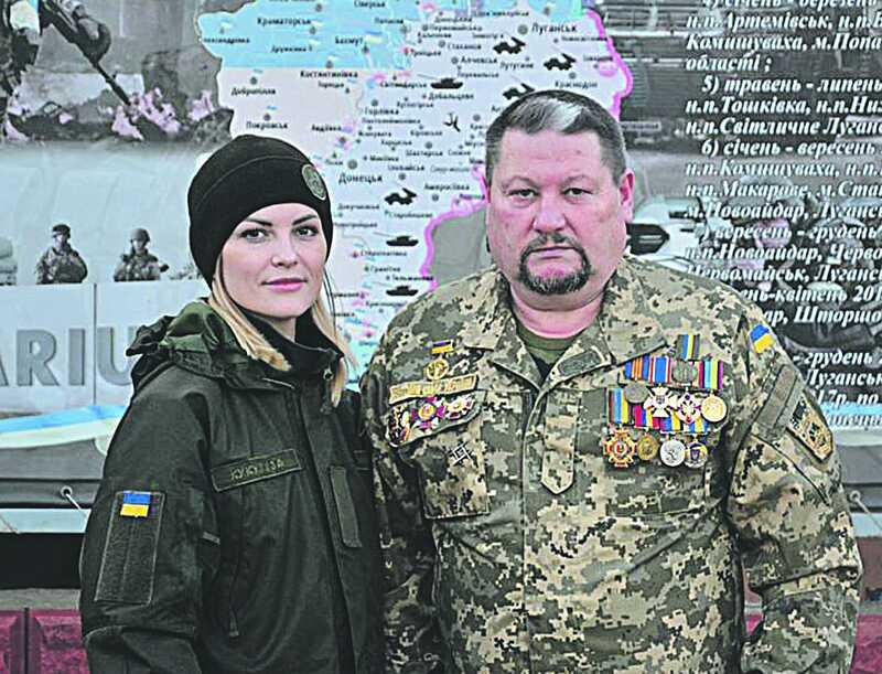 Солдат Ольга з Нацгвардії прийшла на службу з благословення батька