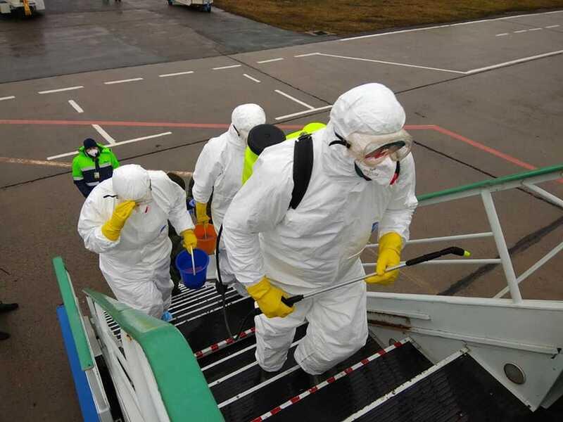 Знешкоджувати короновірус в аеропорту «Вінниця» тренувались на хасидському рейсі з Ізраїлю