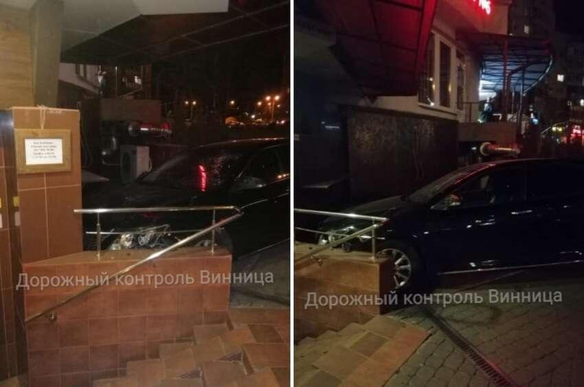 Атомобіль Toyota Camry в'їхав у приміщення кафе «Карабас» (відео)