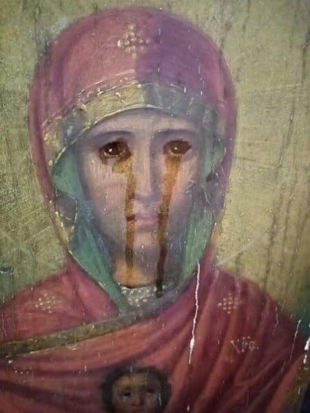 Замироточила ікона Божої Матері