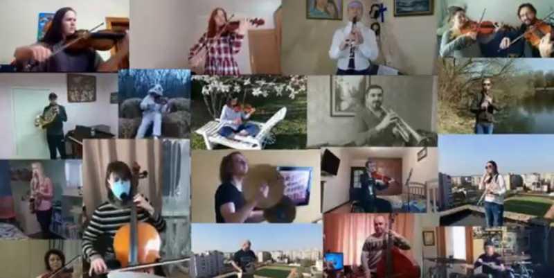 Карантин2020 від вінницького оркестру (відео)