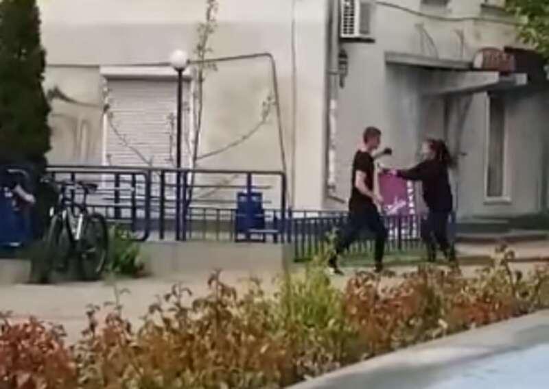 Вже відомо, який чоловік побив дівчину на просп. Коцюбинського. Це відео шокувало Інтернет-мережі