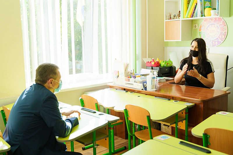 Сергій Моргунов перевірив, як в умовах пандемії працює школа №25