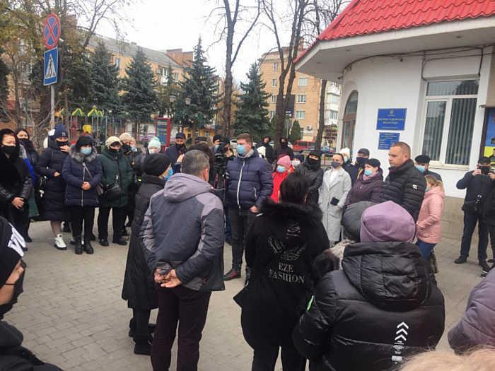У Могилеві-Подільському підприємці мітингували проти карантину вихідного дня
