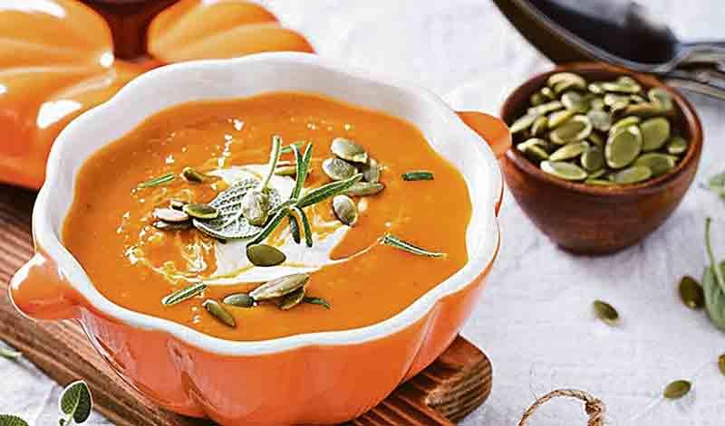 Гарбузовий суп-пюре з ароматними сухариками