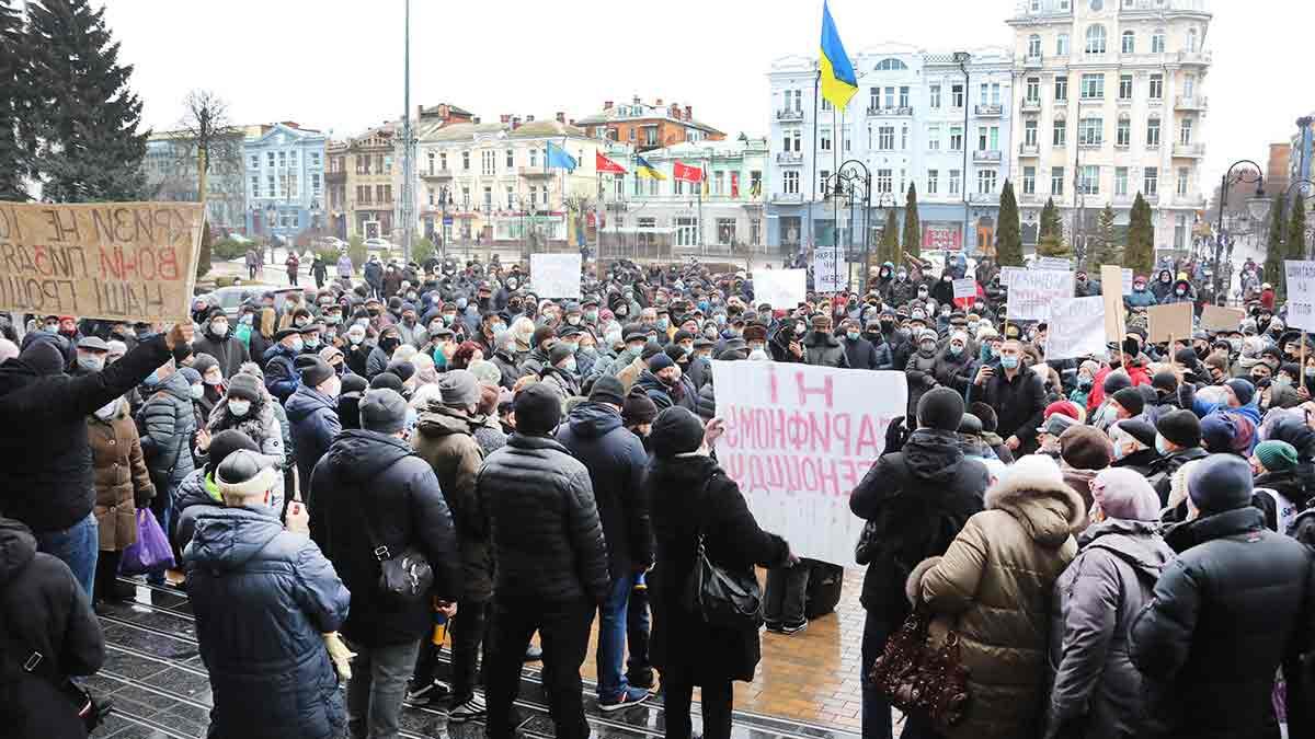 Державна влада прислужує олігархам: «Тарифні майдани» на Вінниччині продовжуються (відео)