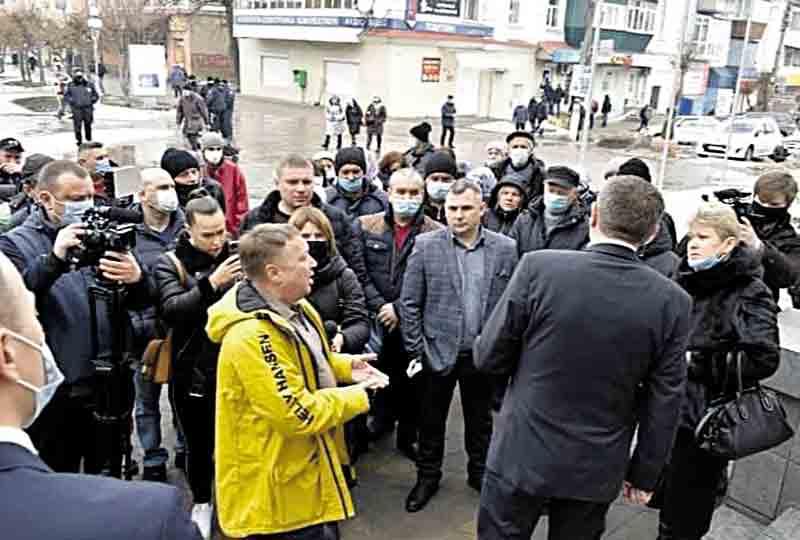 У Жмеринці через землю під міською радою мітингували жителі Браїлова