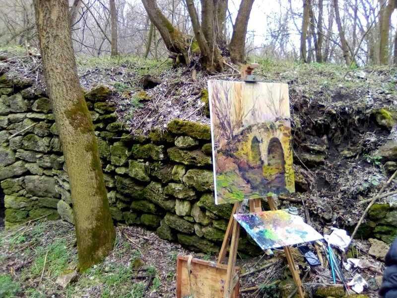 Пленер, картини, перші весняні гриби і козацький куліш у Безводному на Ямпільщині