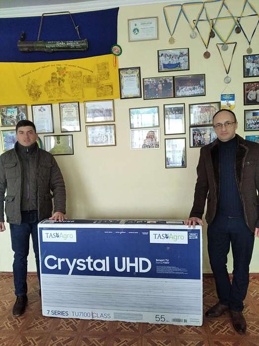 Благодійний фонд Сергія Тігіпка подарував телевізор для Липовецької школи