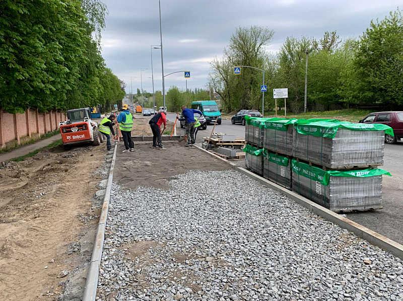 Капітальний ремонт Сабарівського шосе триває
