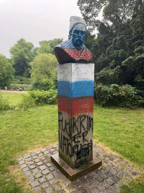 Сплюндрували пам'ятник Шевченку в Данії