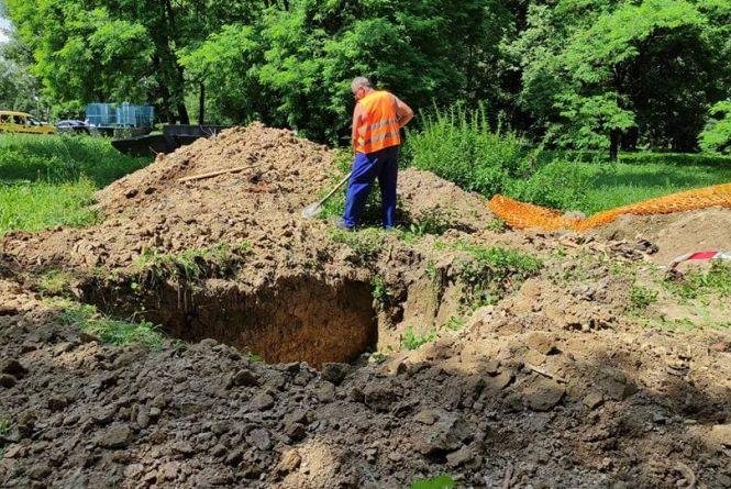 Людські кістки знайшли під час робіт поблизу «Книжки»
