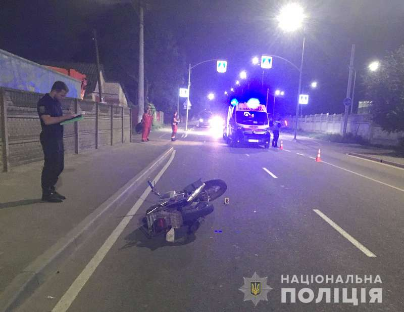 В жахливій автотрощі у Вінниці розбився мотоцикліст