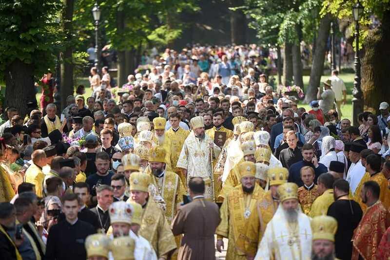 Вінницькі священники та парафіяни ПЦУ святкували у Київі День Хрещення Русі