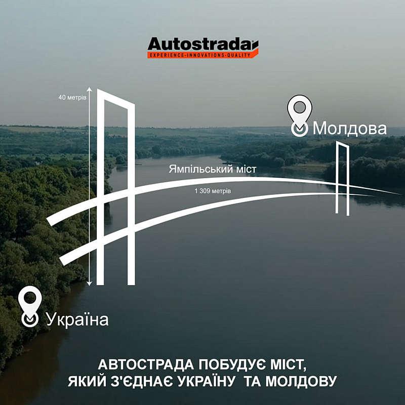 Міст Ямпіль-Косеуць коштує 3,4 мільярда гривень та буде висотою 40 метрів. Його планують збудувати до кінця 2022 року