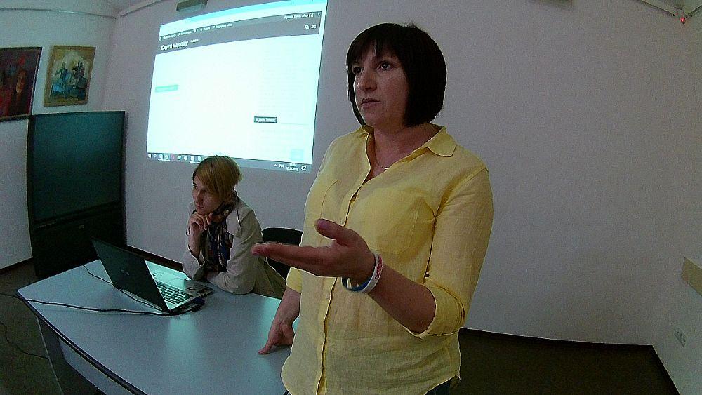 """Сайт """"Слуги Народу"""" презентувала Таїса Гайда у Вінниці (відео)"""