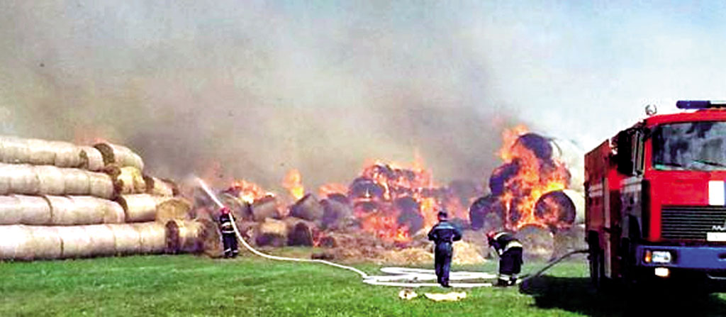 96 тонн соломи згоріло на холдингу, який приписують Президенту