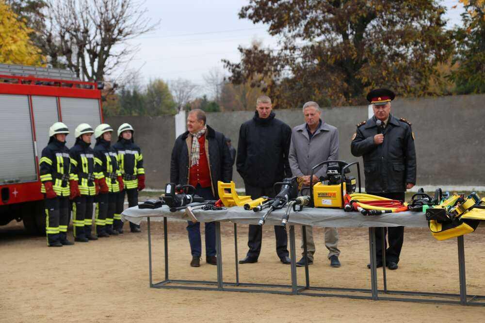 Вінницьке училище рятувальників отримало нове німецьке обладнання